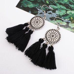 Western Tribal Tassel Dangling Earrings